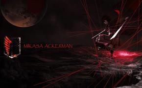Картинка Shingeki No Kyojin, Атака титанов, Микаса Акерман