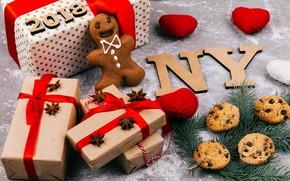 Картинка украшения, Новый Год, печенье, Рождество, подарки, Christmas, New Year, gift, cookies, decoration, Merry