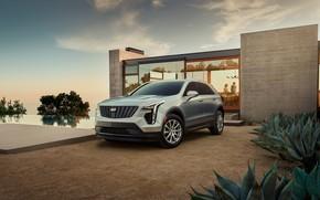 Картинка дом, транспорт, растения, автомобиль, Cadillac XT4
