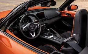 Картинка оранжевый, Mazda, родстер, салон, MX-5, 30th Anniversary Edition, 2019