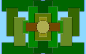 Картинка цветные, фигуры, симметрия