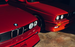 Картинка BMW, Classic, E30, RED, Sight