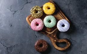 Картинка пончики, десерт, Natasha Breen, с ванильным, кремом