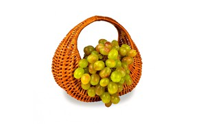 Картинка виноград, гроздь, корзинка