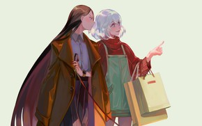 Картинка девушки, пакеты, Houseki no Kuni, Страна Самоцветов