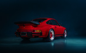 Картинка красный, автомобиль, TURBO, PORSCHE 930