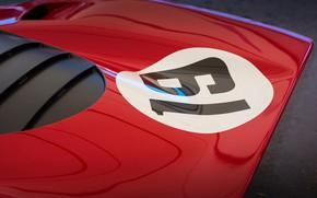 Картинка Red, Car, Classic, Ferrari 312 P
