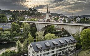 Картинка мост, Швейцария, Баден