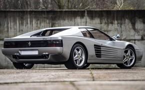 Картинка ретро, серебро, скорость, колеса, silver, спорткар, sportcar, retro, speed, awesome, weels, ferrari 512 tr