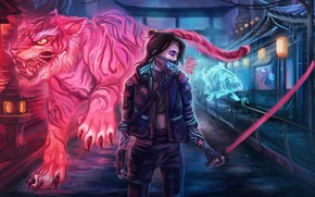 Картинка rpg, video game, night city, CD Projekt RED, Cyberpunk 2077, Cyberpunk, artgame