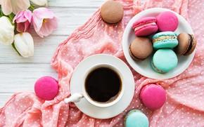 Картинка кофе, букет, печенье, чашка, ассорти, Olena Rudo