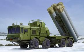 Картинка арт, ПВО, ЗРК, вооруженные силы России, 40N6, 51P6A TEL S-400, С-400 «Триумф»