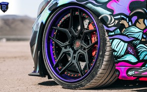Картинка Mercedes-Benz, AMG, tuning, C63, Rohana Wheels, SEMA 2019, C63Z, RFG5, Purple Lip
