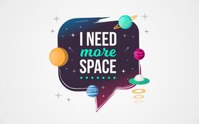Обои космос, надпись, рисунок, графика, планета, space