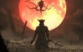 Картинка Red, Sony, PS4, Bloodborne, Moon Presence