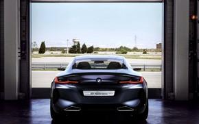 Картинка купе, BMW, вид сзади, 2017, 8-Series Concept