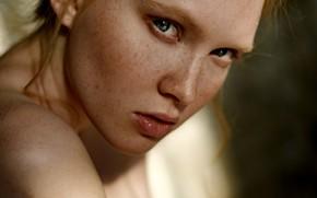 Картинка girl, eyes, smile, beautiful, model, lips, face, hair, makeup