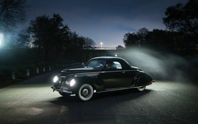 Картинка Lincoln, Coupe, Vintage, 1939, Zephyr