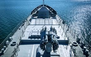 Обои фрегат, вмф, бак, носовая часть, проект 11356, адмирал макаров