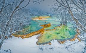 Картинка Китай, террасы, Хуанлун