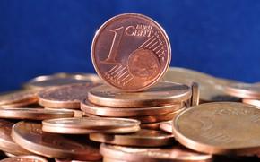 Картинка деньги, евро, монеты