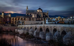Картинка Spain, Andalusia, Cordoba, Roman Bridge, Vista Alegre