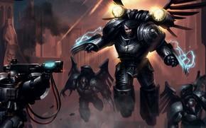 Картинка Horus Heresy, space marines, Warhammer 40 000, Raven Guard, primarch, Corvus Corax