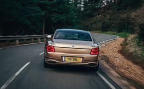 Картинка асфальт, Bentley, вид сзади, Flying Spur, 2020, V8, 2021, Flying Spur V8
