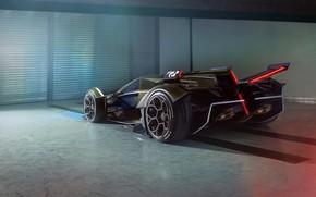 Картинка Lamborghini, Колеса, Концепт-кар, Lambo, Диски, V12, Антикрыло, Vision Gran Turismo, 2019, Lambo V12 Vision