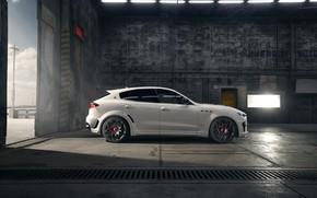 Картинка Maserati, вид сбоку, кроссовер, Rosso, Novitec, 2020, Q4, GranSport, Levante S, Esteso V2