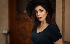 Картинка Девушка, шляпа, Анас Счастливый