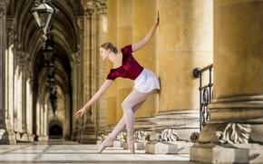 Картинка балерина, девушка, город
