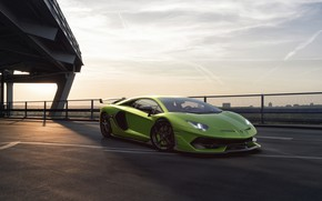 Картинка Lamborghini, Зеленый, Машина, Sky, Green, Суперкар, Aventador, Спорткар, SVJ, Nancorocks, Transport & Vehicles, Lamborghini Aventador …