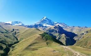 Картинка гора, Грузия, Кавказ, Казбек