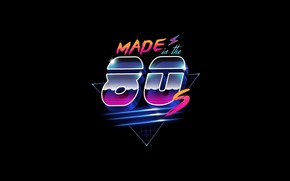 Картинка Минимализм, Фон, 80s, Neon, 80's, Synth, Retrowave, Synthwave, Made in the 80's, New Retro Wave, …