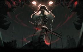 Картинка оружие, аниме, арт, ниндзя