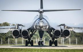 Картинка USAF, B-1 Lancer, Шасси, Стратегический бомбардировщик, B-1B Lancer, Rockwell B-1B Lancer, ТРДДФ F101-GE-100