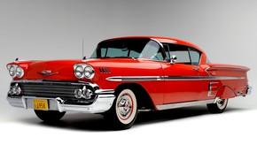 Картинка Chevrolet, Капот, Фары, Classic, Bel Air, Impala, Classic car, 1958, Радиаторная Решетка, Chevrolet Bel Air …