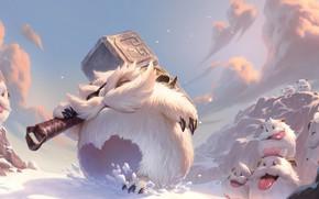 Картинка снег, сушества, Legends of Runeterra