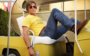 Картинка джинсы, очки, Брэд Питт, Brad Pitt, once upon a time in hollywood, однажды в голливуде, …