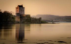 Картинка отражение, замок, водоем