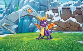 Картинка Небо, Рисунок, Игра, Fantasy, Dragon, Art, Characters, Game Art, Spyro, Spyro the Dragon, Спайро, Flight …