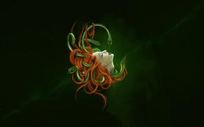 Картинка Девушка, Рисунок, Медуза, Глаза, Змей, Art, Фантастика, Medusa, Горгона, Gorgon, Горгона Медуза, Миф, Medusa Gorgon, …