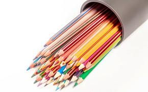 Картинка карандаши, разноцветные, канцелярия