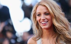 Картинка взгляд, девушка, улыбка, модель, макияж, актриса, блондинка, girl, фотосессия, голубоглазая, model, hair, blonde, actress, Blake …