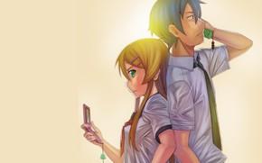 Картинка аниме, арт, двое, Oreimo