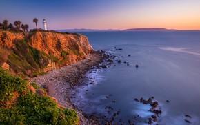 Картинка море, побережье, маяк