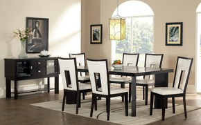 Картинка стол, стулья, картины, столвая