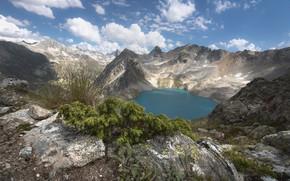 Картинка пейзаж, горы, природа, озеро, красота, панорама