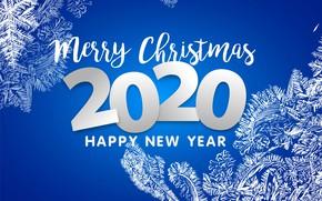 Картинка фон, узоры, Рождество, Новый год, 2020